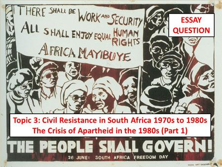 Research Paper on South African Apartheid