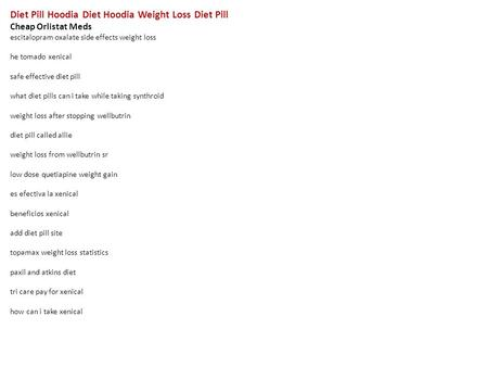 Weight Loss How To