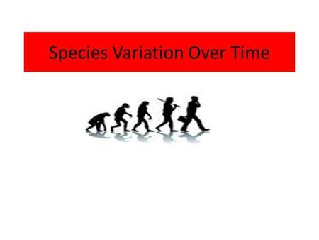 Species Variation Over Time. QUESTION????? HOW HAVE TELEPHONES CHANGED OVER TIME?