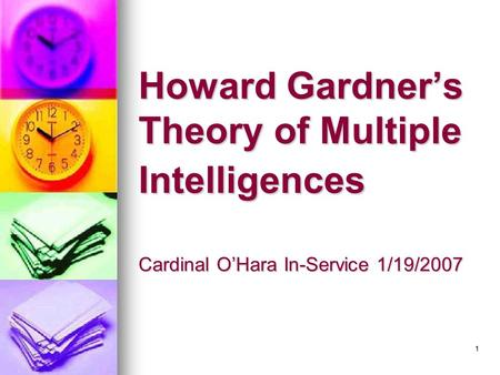 howard gardner research paper