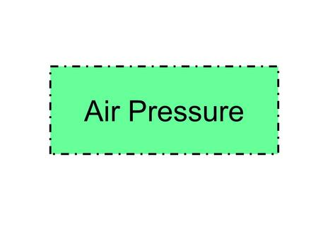 Air Pressure. High and Low Pressure Areas High pressure causes air to sink Usually results in several days of clear sunny skies Air rises in low pressure.