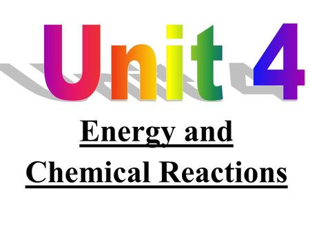 Energy and Chemical Reactions An explosion results from a rapid chemical reaction. * energy is either released or absorbed in all chemical reaction.