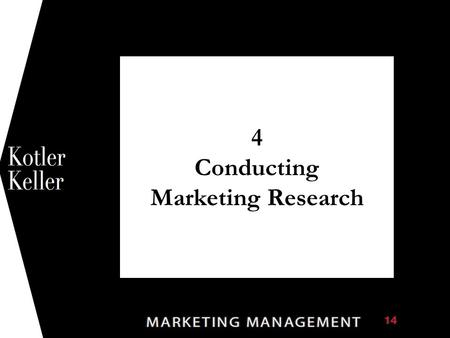 4 Conducting Marketing Research 1. Chapter Questions  What constitutes good marketing research?  What are the best metrics for measuring marketing productivity?