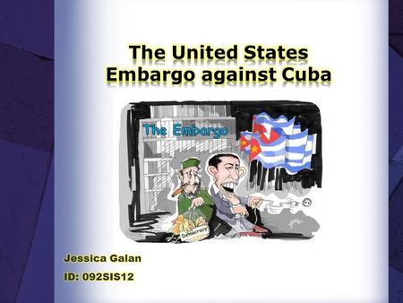 Democracy. Cuba Government enacted The Agrarian Reform Law which nationalized all companies and lands property from U.S that were located in the island.