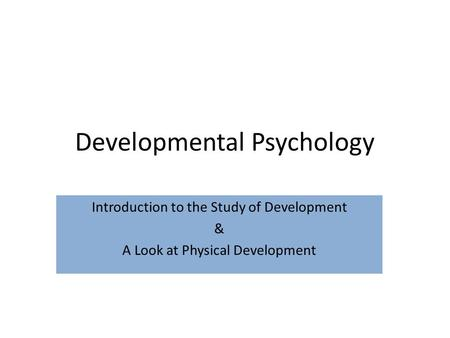 an introduction to the analysis of cognitive development Find peer-reviewed journals that publish developmental psychology journal descriptions are excerpts from their websites impact factors are from thomson scientific's 2007 journal citation reports (higher numbers means a greater number of average citations of new papers in the following 2 years.
