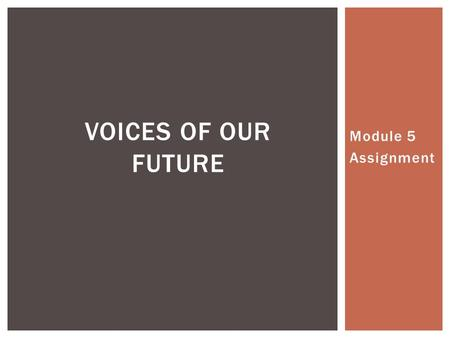 Module 5 Assignment VOICES OF OUR FUTURE. Resource Inventory RESOURCE MAP S.NoAssetsResource Inventory 1Aspirational International Human Right Activist.