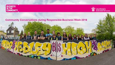 Community Conversations during Responsible Business Week 2016.