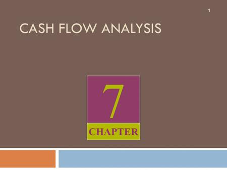 7 CHAPTER CASH FLOW ANALYSIS 1. What you will learn from this chapter 2  Relevance of Cash Flows  What cash flow statements tell you  What is free.