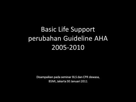 basic life support american heart association pdf