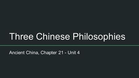 ancient china thesis statement