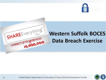 2 United States Department of Education, Privacy Technical Assistance Center 1 Western Suffolk BOCES Data Breach Exercise.