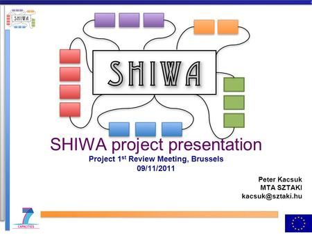 SHIWA project presentation Project 1 st Review Meeting, Brussels 09/11/2011 Peter Kacsuk MTA SZTAKI