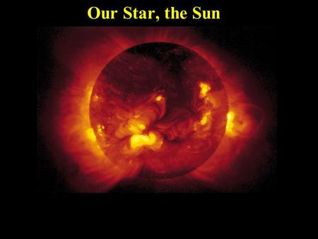 Our Star, the Sun. The Sun is the Largest Object in the Solar System The Sun contains more than 99.85% of the total mass of the solar system If you.