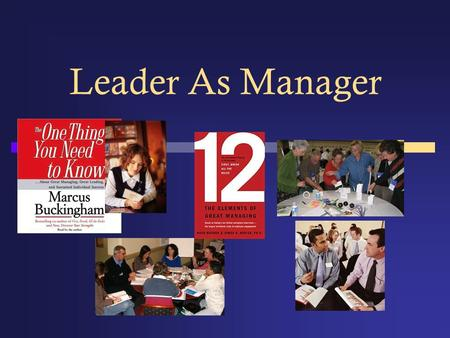 Leader As Manager. Managing and Leading LeaderManager Characteristics of a leader:Characteristics of a manager: As a leader, my roles are:As a manager,