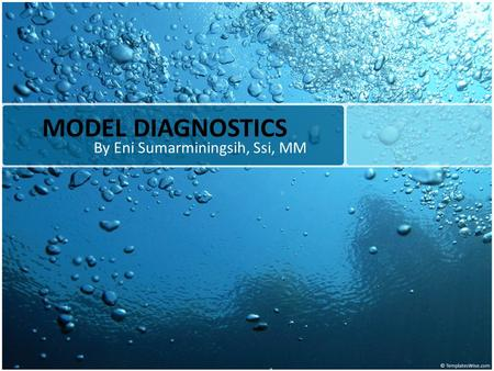 MODEL DIAGNOSTICS By Eni Sumarminingsih, Ssi, MM.