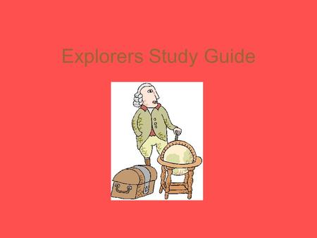 Explorers Study Guide What country sponsored John Cabot's exploration? England.