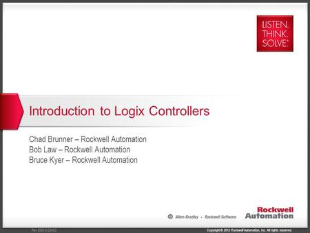 Introduction to Logix Controllers