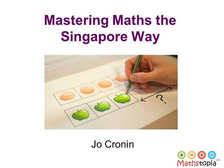 Mastering Maths the Singapore Way Jo Cronin. Reflect By age fifteen, pupils in Singapore, Japan, South Korea and China are three years ahead of pupils.