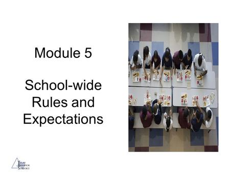 Module 5 School-wide Rules and Expectations. Session Objectives Provide a rationale for setting and teaching clear rules and behavior expectations for.