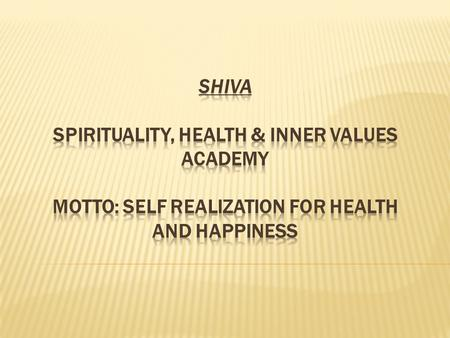  To provide Emotional healing support for physically and mentally dis-eased by imparting knowledge of spiritual, psychological, biological and social.