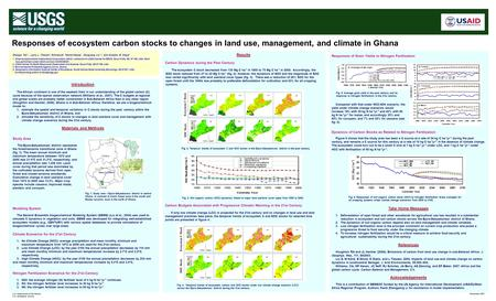 Responses of ecosystem carbon stocks to changes in land use, management, and climate in Ghana Climate Scenarios for the 21st Century 1.No Climate Change.