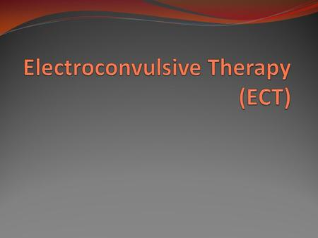 ECT First used: in the 1930's (under the name electroshock) Used for : Mostly for severe depression. Also for mania (bipolar disorder) and catatonia.