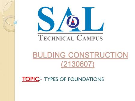 BULDING CONSTRUCTION ( )