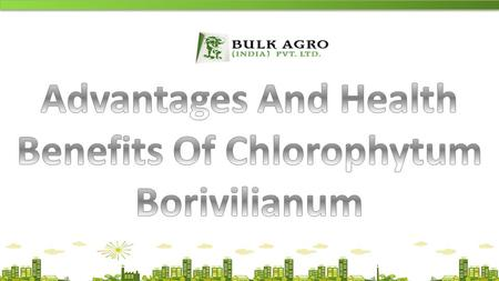 ALL RIGHTS RESERVED TO BULK AGRO (INDIA) PVT. LTD.Website:- www.bulkagro.com.