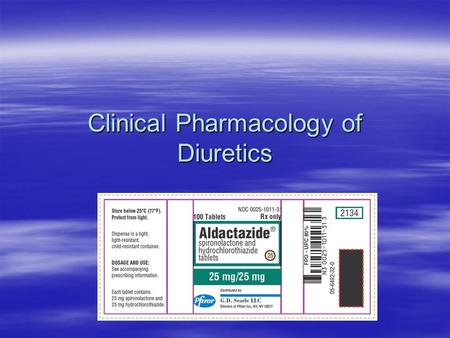 Clinical Pharmacology of Diuretics. DIURETIC DRUGS  diuretics are considered to be substances that aid in removing excess extracellular fluid and electrolytes.
