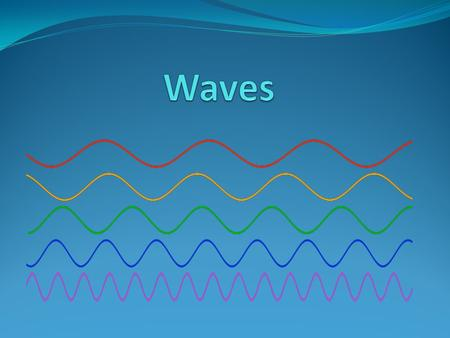 What are Waves? A wave is a disturbance that transfers energy from place to place. Energy – the ability to do work The material through which a wave travels.