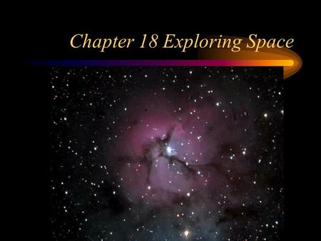 Chapter 18 Exploring Space. Section 1 Observing the Sky How do we observe space from Earth? Un-aided eye Binoculars Telescopes Most ancient astronomers.