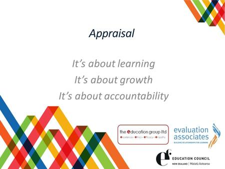 Appraisal It's about learning It's about growth It's about accountability.
