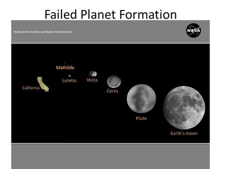 Failed Planet Formation. What is a Planet We get the term planet from the Greek word Planetes - meaning wanderer. The IAU in 2006 voted to define.