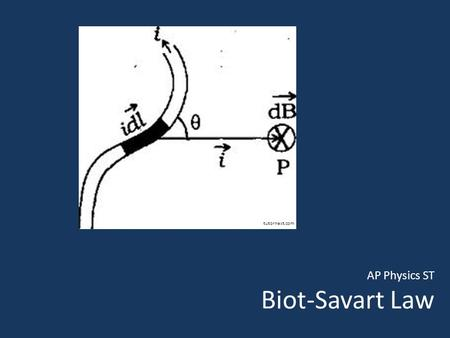 AP Physics ST Biot-Savart Law tutornext.com. Biot-Savart Law Shortly after Oersted discovered connection between a current-carrying wire and a magnetic.