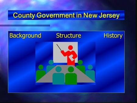 County Government in New Jersey Background Structure History.