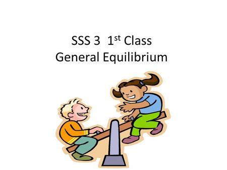 SSS 3 1 st Class General Equilibrium. Copyright © Cengage Learning. All rights reserved 2 Chemical Equilibrium The state where the concentrations of all.