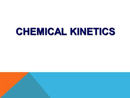 CHEMICAL KINETICS. 6.1 – Rates of Reaction 6.2 – Collision Theory 6.3 – Rate Expression 6.4 – Energy Barrier CONTENTS.