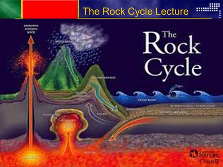 Copyright © by Holt, Rinehart and Winston. All rights reserved. ResourcesChapter menu The Rock Cycle Lecture.