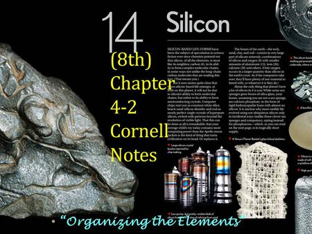 "(8th) Chapter 4-2 Cornell Notes ""Organizing the Elements"""