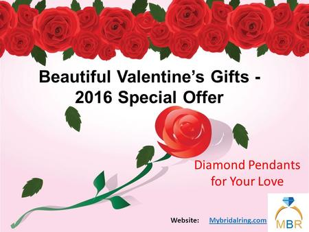 Beautiful Valentine's Gifts - 2016 Special Offer Diamond Pendants for Your Love Mybridalring.comWebsite: