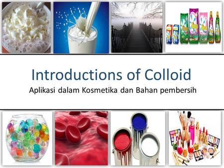 Introductions of Colloid