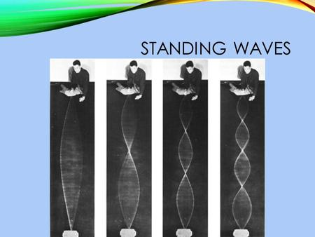 STANDING WAVES. WHAT IS A STANDING WAVE? A standing wave is created when the waves from the source (my hand) interfere with the reflected waves in such.