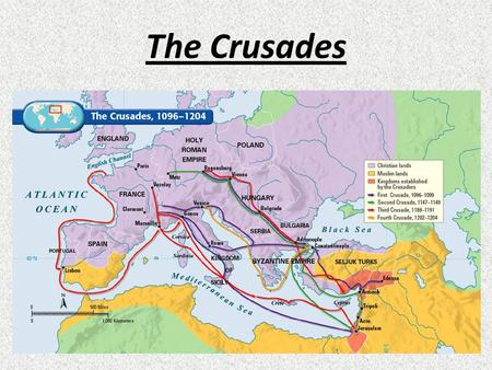 The Crusades. The Crusades – a series of military campaigns to establish Christian control over the Holy Lands The term Crusades comes from the Latin.