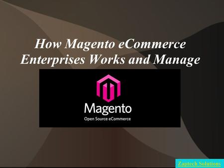 How Magento eCommerce Enterprises Works and Manage Zaptech Solutions.