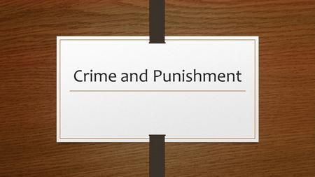 Crime and Punishment. Assault I (1) A person commits the crime of assault in the first degree if the person intentionally causes serious physical injury.