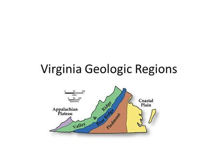 Virginia Geologic Regions. Coastal Plain Youngest Sedimentary rocks Mineral resources: titanium and zirconium Low relief Beaches, swamps, bays, estuaries.