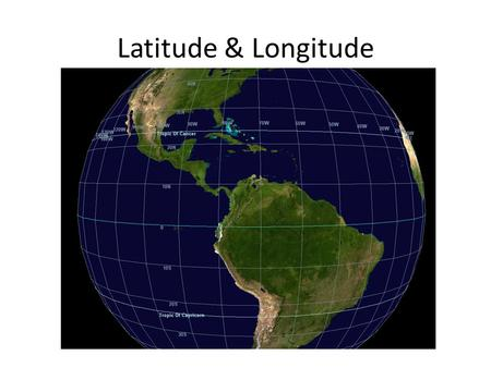 Latitude & Longitude. Latitude Earth's imaginary lines that run east and west but MEASURE north and south. Lines of latitude are also called parallels.