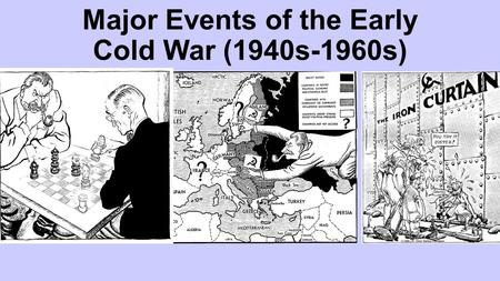 Major Events of the Early Cold War (1940s-1960s).