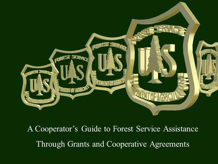 A Cooperator's Guide to Forest Service Assistance Through Grants and Cooperative Agreements.