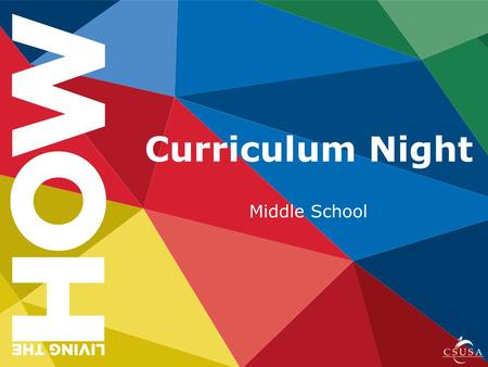 Curriculum Night Middle School. What do I as a parent need to know to support student assessments at CCAS? Essential Question.
